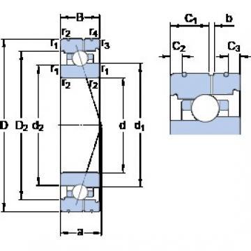 70 mm x 100 mm x 16 mm  SKF 71914 ACB/HCP4AL angular contact ball bearings