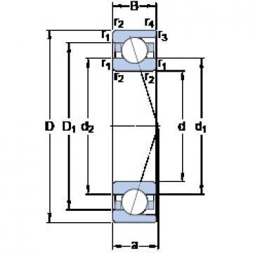 70 mm x 100 mm x 16 mm  SKF 71914 CD/P4A angular contact ball bearings