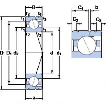 70 mm x 100 mm x 16 mm  SKF 71914 CD/HCP4AL angular contact ball bearings