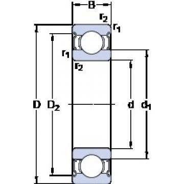 70 mm x 100 mm x 16 mm  SKF W 61914-2Z deep groove ball bearings