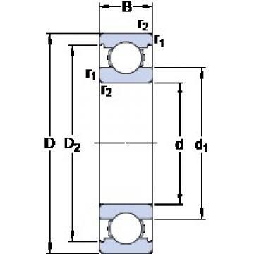70 mm x 100 mm x 16 mm  SKF 61914 deep groove ball bearings