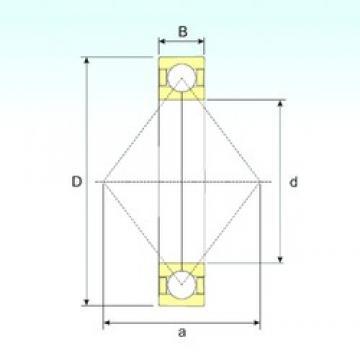 15 mm x 35 mm x 11 mm  ISB QJ 202 N2 M angular contact ball bearings