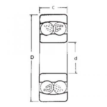 75 mm x 130 mm x 25 mm  FBJ 1215 self aligning ball bearings