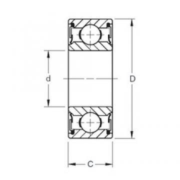 15 mm x 35 mm x 11 mm  Timken 202PP deep groove ball bearings
