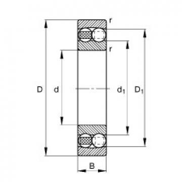 75 mm x 130 mm x 25 mm  FAG 1215-TVH self aligning ball bearings