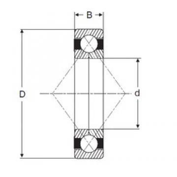 75 mm x 130 mm x 25 mm  SIGMA QJ 215 angular contact ball bearings