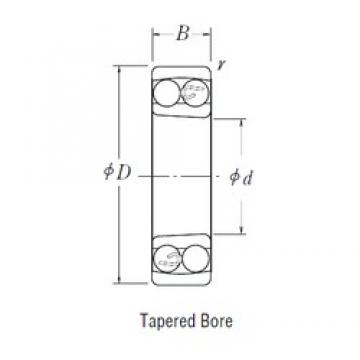 75 mm x 130 mm x 25 mm  FBJ 1215K self aligning ball bearings