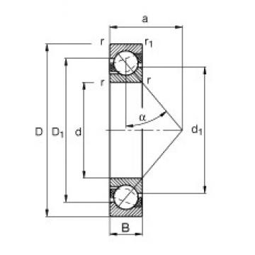 15 mm x 35 mm x 11 mm  FAG 7202-B-JP angular contact ball bearings