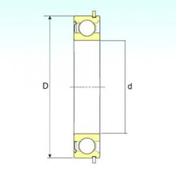15 mm x 35 mm x 11 mm  ISB 6202-ZNR deep groove ball bearings