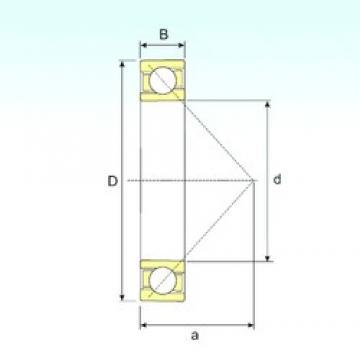 15 mm x 35 mm x 11 mm  ISB 7202 B angular contact ball bearings