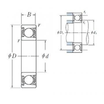 75 mm x 130 mm x 25 mm  NSK BL 215 ZZ deep groove ball bearings