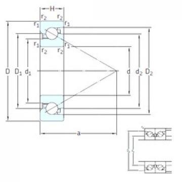15 mm x 35 mm x 11 mm  SKF BSA 202 CG thrust ball bearings