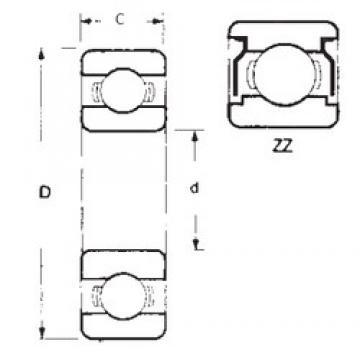 90 mm x 140 mm x 24 mm  FBJ 6018ZZ deep groove ball bearings