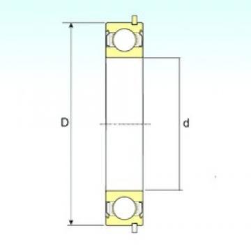 15 mm x 35 mm x 11 mm  ISB 6202-ZZNR deep groove ball bearings