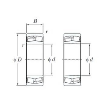 120 mm x 180 mm x 60 mm  KOYO 24024RH spherical roller bearings