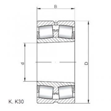 120 mm x 180 mm x 60 mm  Loyal 24024 K30 CW33 spherical roller bearings