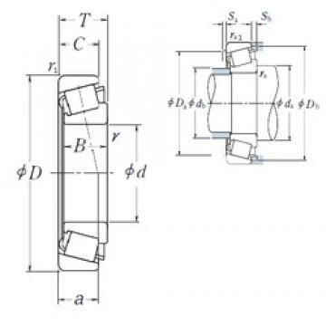 35 mm x 80 mm x 21 mm  NSK HR30307J tapered roller bearings