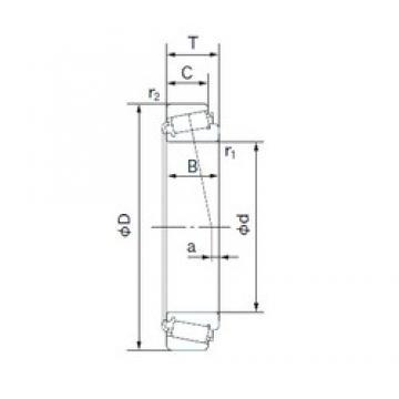 35 mm x 80 mm x 21 mm  NACHI E30307DJ tapered roller bearings