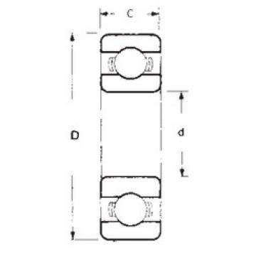 90 mm x 140 mm x 24 mm  FBJ 6018 deep groove ball bearings