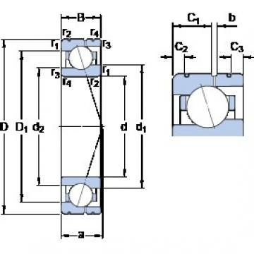 70 mm x 100 mm x 16 mm  SKF 71914 CE/HCP4AL angular contact ball bearings