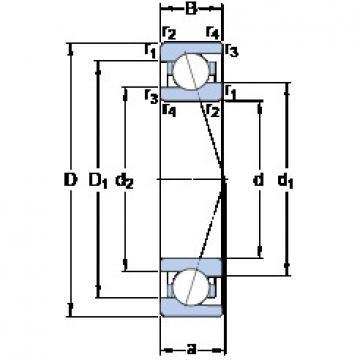 70 mm x 100 mm x 16 mm  SKF 71914 CE/P4A angular contact ball bearings