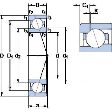 70 mm x 100 mm x 16 mm  SKF 71914 ACE/P4AH1 angular contact ball bearings
