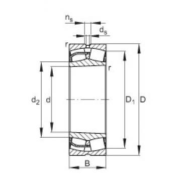 120 mm x 180 mm x 60 mm  FAG 24024-E1-K30 spherical roller bearings