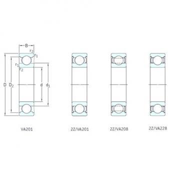 15 mm x 35 mm x 11 mm  SKF 6202-2Z/VA228 deep groove ball bearings