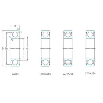 15 mm x 35 mm x 11 mm  SKF 6202/VA201 deep groove ball bearings