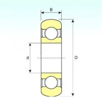 15 mm x 35 mm x 11 mm  ISB 6202-2RS BOMB deep groove ball bearings