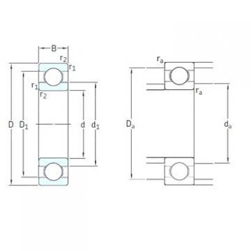 15 mm x 35 mm x 11 mm  SKF 6202-2RSLTN9/HC5C3WT deep groove ball bearings