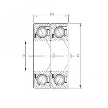 ISO 71907 CDT angular contact ball bearings