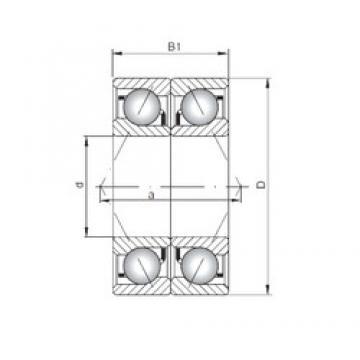 ISO 71907 CDB angular contact ball bearings