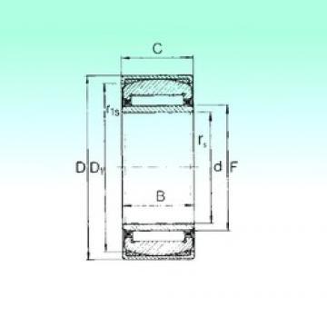 35 mm x 55 mm x 20 mm  NBS PNA 35/55 needle roller bearings