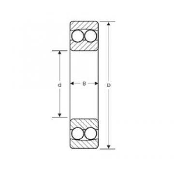 75 mm x 130 mm x 25 mm  SIGMA 1215 self aligning ball bearings
