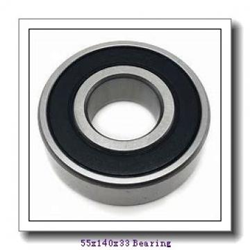 55 mm x 140 mm x 33 mm  ISO N411 cylindrical roller bearings