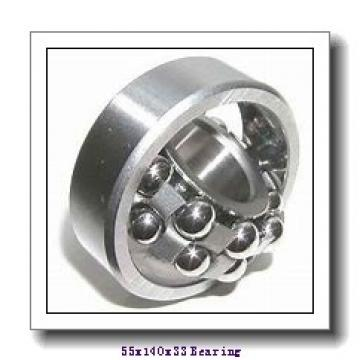 55 mm x 140 mm x 33 mm  ISO 7411 B angular contact ball bearings