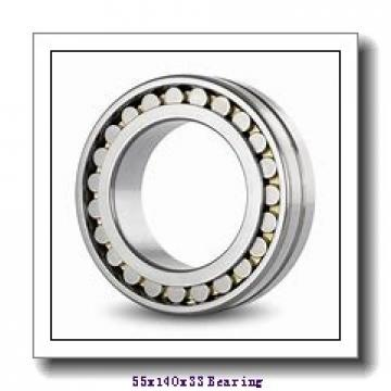 55 mm x 140 mm x 33 mm  KOYO 7411B angular contact ball bearings