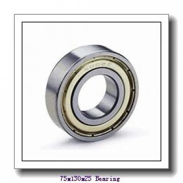 75 mm x 130 mm x 25 mm  FBJ N215 cylindrical roller bearings