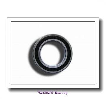 75 mm x 130 mm x 25 mm  NKE 6215-N deep groove ball bearings