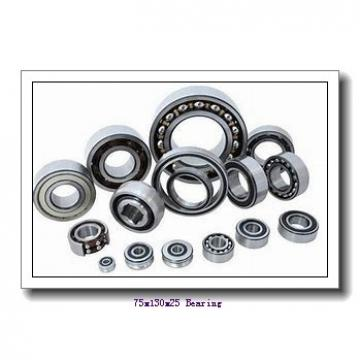 75 mm x 130 mm x 25 mm  FBJ NF215 cylindrical roller bearings