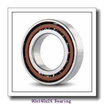 90 mm x 140 mm x 24 mm  SKF 6018N deep groove ball bearings