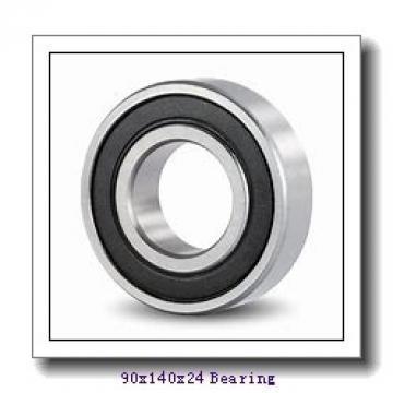 90 mm x 140 mm x 24 mm  SKF 6018NR deep groove ball bearings