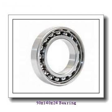 90 mm x 140 mm x 24 mm  KOYO 3NCHAR018 angular contact ball bearings