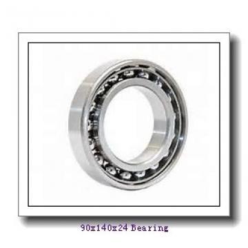 90 mm x 140 mm x 24 mm  NKE NU1018-E-M6 cylindrical roller bearings