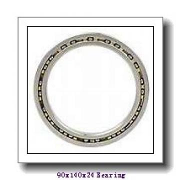 90 mm x 140 mm x 24 mm  FAG HCS7018-E-T-P4S angular contact ball bearings