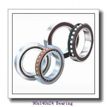90 mm x 140 mm x 24 mm  Loyal 7018 C angular contact ball bearings