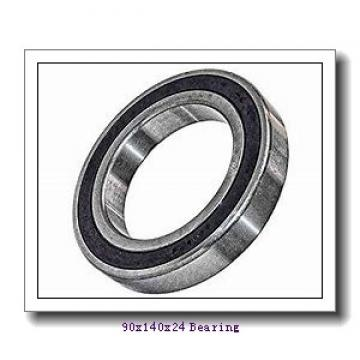 90 mm x 140 mm x 24 mm  NACHI 7018CDT angular contact ball bearings
