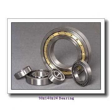 90 mm x 140 mm x 24 mm  SKF NU1018M/HC5C3 cylindrical roller bearings