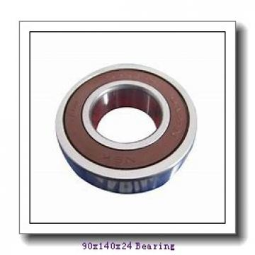 90 mm x 140 mm x 24 mm  FAG B7018-C-T-P4S angular contact ball bearings